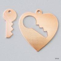 Anhänger Schlüssel zum Herz, 28 x 26 mm