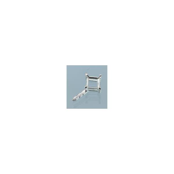 Steckfassung quadratisch 980er Silber 5 x 5 mm