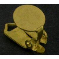 Ohrclips 925 Silber vergoldet ø 6,5 mm / 1 Paar