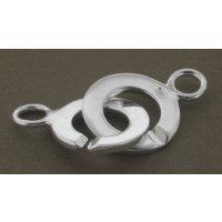 Ring-Ring Verschluß 925 Silber 14 x 10 mm 1 Stck.