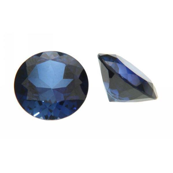 Synth. Edelstein rund, Blau-Saphir, bis  850°C